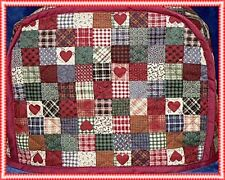 Quilted Toaster Cover Patchwork Hearts Made to Order Toaster Cover Only