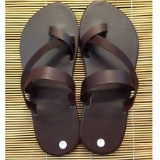 Mens Leather Casual Handmade Sandals Roman Flip Flops Multi-US Boho Hippie Shoes