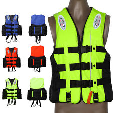 New Adult Buoyancy Aid Sailing Kayak Fishing Life Jacket Size L-3XL with Whistle