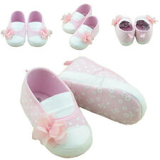0~18M Kids Toddler Baby Girls Flower Crib Shoes Soft Sole Slippers Sneakers Shoe