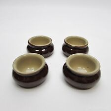 Pearsons of Chesterfield Brown Ramekin, Tiny Dip Sauce Bowl Mini Pot - Set of 4