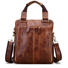 Fashion Men Genuine Leather Shoulder Messenger Bag Briefcase Handbag Travel bag