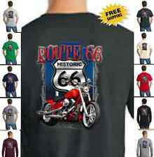 Biker Historic Route 66 Classic Motorcycle Custom Chopper New Mens T Shirt