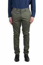 Lanvin Light Khaki Flat Front Men's Casual Pants Size 28 30 32 34 36
