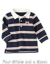"""NWT"" Gymboree Baby Boy's Tiny MVP Navy Football Polo Shirt Size: 6-12 Months"