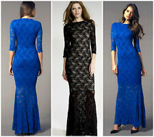 New HONOR GOLD Lace BNWT £75 Fishtail Towie Club Party Long Ballgown Maxi Dress
