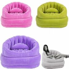 Inflatable Air Blow Up Arm Chair Couch Sofa Seat Lounge Armchair Portable