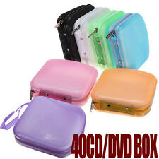 Portable 40 Disc CD DVD Storage Zipper Bag Case Hard Box Wallet Album Holder TO