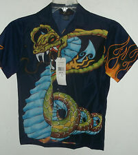 NEW boys GIANT VENOMOUS SNAKE HAWAIIAN SHIRT boys size  L  or M