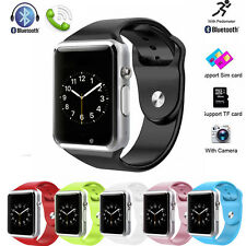 W8 Bluetooth For Android IOS Phone Waterproof GSM Touch Screen Smart Wrist Watch