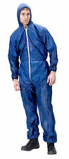 NEW DISPOSABLE COVERALLS OVERALLS NAVY BOILERSUIT HOOD PAINTERS SUIT FREE P&P