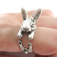 Punk Animal Retro Cute Lovely Rabbit Bunny Midi Finger Opening Knuckle Wrap Ring