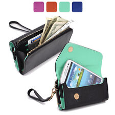 Fad Bicast Leather Protective Wallet Case Clutch Cover for Smart-Phones MLUB21
