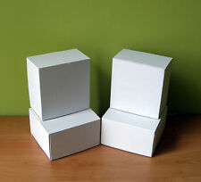 WHITE POSTAL CARDBOARD BOXES 150x150x90 SMALL MAILING SHIPPIN GIFT PACKET CD DVD