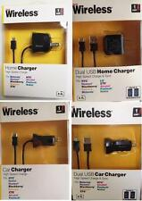 Dual USB Home/Car Charger cellphone Motorola Nokia Blackberry Kyocera ZTE HTC