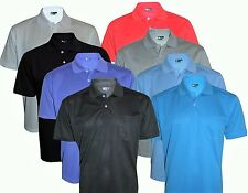 NEW Men's T-Shirts Loose Fit PK Polo Plain With Pocket Polycotton Size S to 2XL
