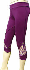 """BNWOT Pixie Leggings with lace panel One Size 26"""" - 34"""""""