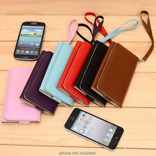 PU Leather Protective Wallet Case Clutch Cover for Smart-Phones ESMXWL-27