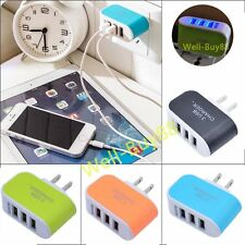 3-Port USB Wall Home Travel AC LED Power Charger Adapter 3.1A For Samsung iPhone