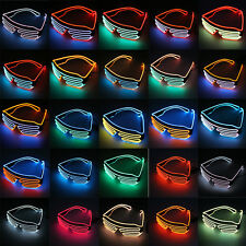 Glow LED Glasses Light Up Shades Flashing Rave Festival Party Glasses New BG