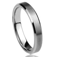 Women's 4MM Titanium Comfort Fit Wedding Band Ring Brushed Engraved Ring