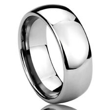 Men Women 8MM Titanium Comfort Fit Wedding Band Ring High Polished Classy Domed