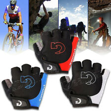 New Motorcycle Bike Cycling Half Finger Sport Gel Glove Outdoor Riding Glove