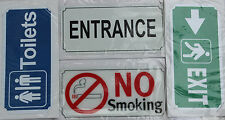 Toilets,Entrance,Exit,No Smoking Sign For Office,Restaurants,Hotels Use Plastic