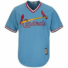 Majestic Columbia Blue Cooperstown Cool Base® Jersey - St. Louis Cardinals