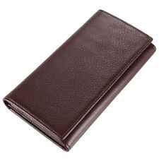 New Fashion Genuine Leather Mens Zipper ID Coins Holder Clutch Wallet Long Purse