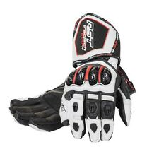 RST TRACTECH EVO-R White Motorbike Kangaroo Leather Race Gloves S M L XL XXL