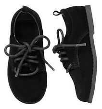 Gymboree Holiday Celebrations Boys Black Suede Leather Lace-up Dress Shoes $34
