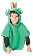 Girls Boys Green Frog Prince Animal Book Day Fancy Dress Costume Outfit 3-6yrs