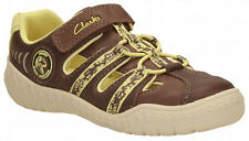 Clarks STOMP RIDE Boys Brown Closed Toe Washable Leather Sandals 7 - 12.5 G Fit