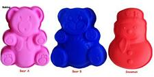 Teddy Bear Snowman Bears Dolls Jelly Silicone Cake Mould Mold Baking Tins Pans