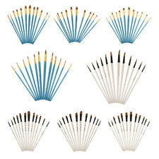 12 Pcs Face Paint Brushes Round Flat Slant Pointed Tip Set Acrylic Oil Painting