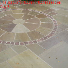 Indian sandstone Paving Garden stone Slabs natural  patio drive Flags samples