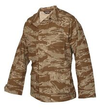 Tru-Spec Desert tiger stripe pattern BDU jackets.4 pocket 100 % cotton ripstop