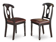 Set of 2 Kenley Nappoleon-Styled Dining room Chair in Black & Cherry Finish