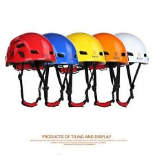 Safety Rock Climbing Tree Carving Downhill Rescue Helmet Gear Equipment $