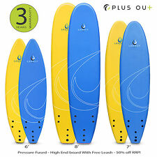 Legacy Soft Surfboard Beginners Foam Surf Board Adult Kids Foamie | 6ft 7ft 8ft