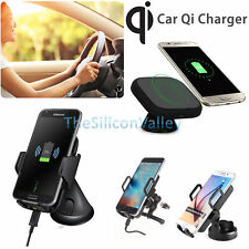Qi Wireless Car Charger Fast Charging Pad Dashboard windsheild Mount Holder