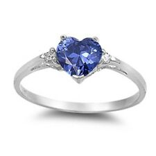 Heart Shape Wedding Engagement Ring 925 Sterling Silver 1.00CT Russian CZ