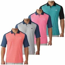 Adidas 2016 Climacool Aeroknit Color Block Lightweight Mens Golf Polo Shirt