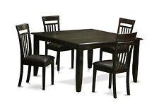 5 PC dining table set for 4-Dinette table with Leaf and 4 Dinette chairs.