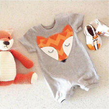 Newborn Toddler Infant Baby Boy Girl Fox Romper Jumpsuit Bodysuit Clothes Outfit