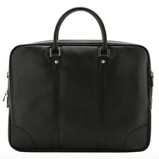 Mens Faux Leather Briefcase Laptop Black Briefcases for Men Business Bag 002