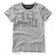 883 Police Mens Selby Short Sleeve Crew Neck Pure Cotton Marl Grey T-Shirt
