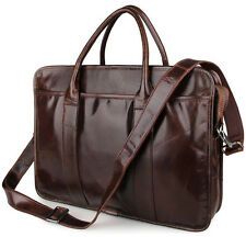 New Vintage Genuine Leather Men's Messenger Bag Briefcase Laptop Shoulder Bag