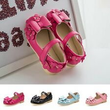 Sweet Princess Shoes Leather Shoes Girls Cute Bow Shoes Baby Flower Mary Janes